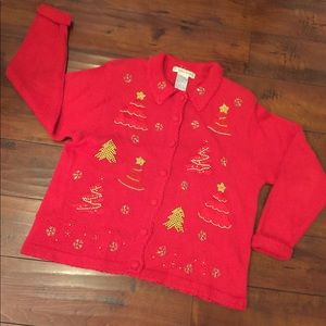 Vintage Christmas Holiday Sweater Ugly Sweater L